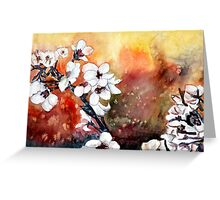 modern abstract japanese cherry blossom prints Greeting Card