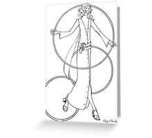 """Helga's Fashion Mannequins Series Poster 6 Buttoned Maxi Greeting Card"