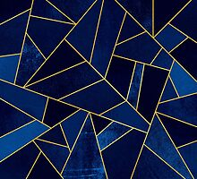Blue Stone / Gold Lines by Elisabeth Fredriksson