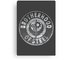 Brotherhood of Steel (Battle Worn Effect) Canvas Print