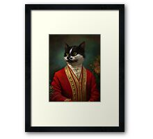 The Hermitage Court Waiter Cat Framed Print