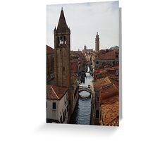 Red Rooftops of Venice  Greeting Card