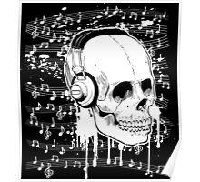 Skull Music design Poster