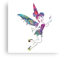 Tinker Bell Disney Fairies Watercolor Canvas Print