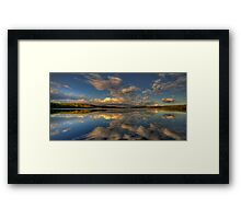 Retroflection - Narrabeen Lakes, Sydney - The HDR Experience Framed Print