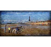 Blackpool Beach, U.K. Photographic Print