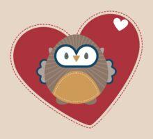 OWL SERIES :: heart hoot 1 by Kat Massard