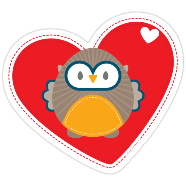 OWL SERIES :: heart hoot 1 by Kat Massard