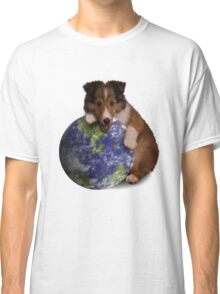Earth Day Sheltie Classic T-Shirt