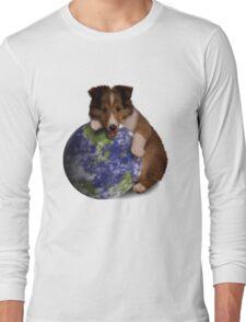Earth Day Sheltie Long Sleeve T-Shirt