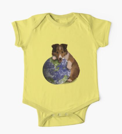 Earth Day Sheltie One Piece - Short Sleeve