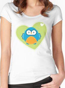 OWL SERIES :: heart hoot 3 Women's Fitted Scoop T-Shirt
