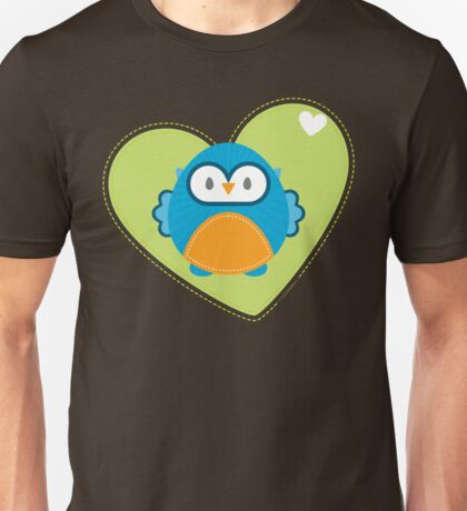 OWL SERIES :: heart hoot 3 Unisex T-Shirt