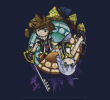 Kingdom Hearts in The Wind Waker style (Sora) Baby Tee