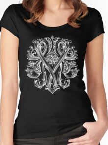 """YAMOLODOY"" Design pattern Women's Fitted Scoop T-Shirt"