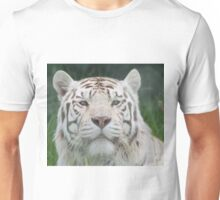 White Tiger Staring Match Unisex T-Shirt