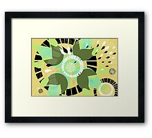 Imploding Pedals Framed Print