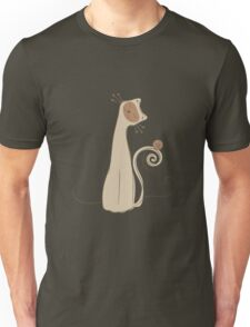 Cheerful Cat Silhouette Vector Art Unisex T-Shirt