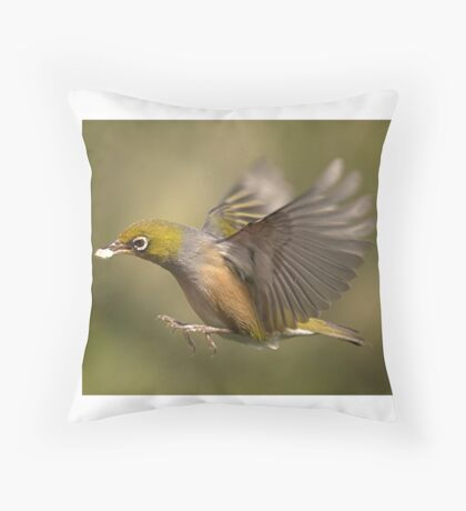 The bread winner of the family  with a  takeaway meal.........! Throw Pillow