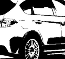 Subaru Impreza WRX STI 2008 Rear View Sticker