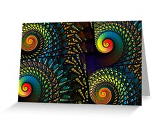 Stained Glass Spirals Greeting Card