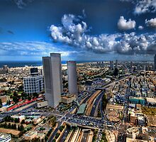 Tel Aviv, sunrise over the city by Ronsho