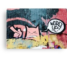 Word up Canvas Print