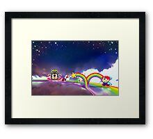Rainbow Islands retro pixel art Framed Print