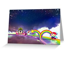 Rainbow Islands retro pixel art Greeting Card