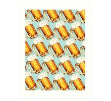 Beer Pattern Art Print