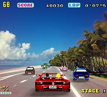 Outrun retro pixel art by smurfted