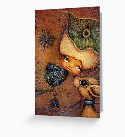 Flower of Antiquity - Love Greeting Card