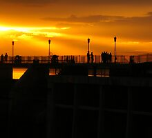 Sunset on the Dam by JohnDSmith