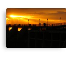 Sunset on the Dam Canvas Print