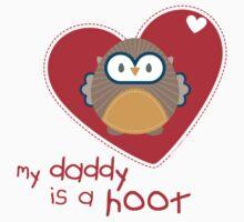 OWL SERIES :: heart - daddy is a hoot 1 T-Shirt