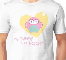 OWL SERIES :: heart - mummy is a hoot 2 Unisex T-Shirt