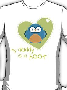 OWL SERIES :: heart - daddy is a hoot 3 T-Shirt