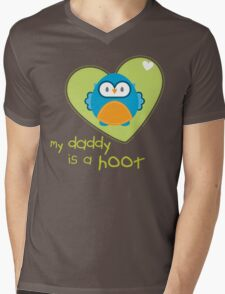 OWL SERIES :: heart - daddy is a hoot 3 Mens V-Neck T-Shirt