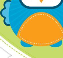 OWL SERIES :: heart - daddy is a hoot 3 Sticker