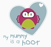 OWL SERIES :: heart - mummy is a hoot 4 by Kat Massard
