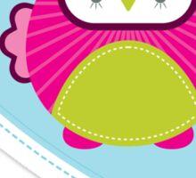 OWL SERIES :: heart - mummy is a hoot 4 Sticker