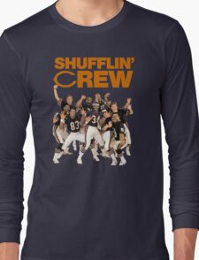 Chicago Bears Super Bowl Shufflin' Crew (Orange Text) Long Sleeve T-Shirt