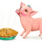 Little Pig's Bliss - The Smell of Apple Pie by Karen  Hull
