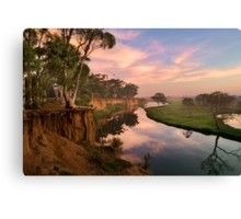 Peaceful dawn at Werribee Park Canvas Print