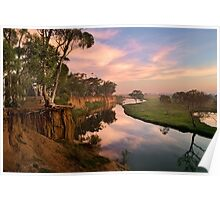 Peaceful dawn at Werribee Park Poster