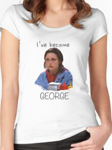 Elaine - I've Become George (dark) Women's Fitted Scoop T-Shirt