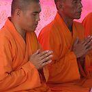 Monks In Prayer - River Kwai, Thailand by BreeDanielle