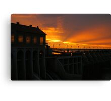 Lake Overholser Dam  Canvas Print