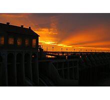 Lake Overholser Dam  Photographic Print