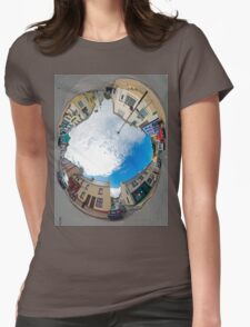 Kilcar Crossroads - Sky in Womens Fitted T-Shirt